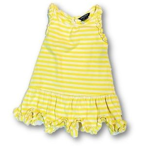 Yellow and white striped sundress by Nautica 18 mo